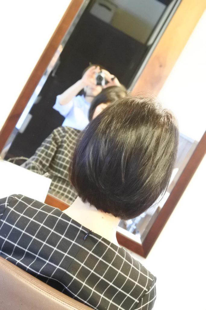 縮毛矯正、毛先がパキッとしない自然な毛先を心掛けてます