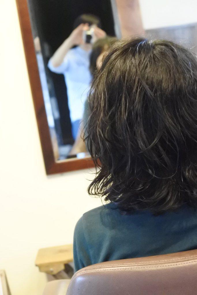 すかれすぎたくせ毛、改めて髪をすくといったことを考えました。